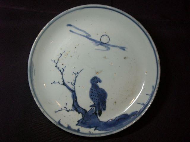 「小山美術」から【古染付 枯木鷲図皿】 《明時代・末期》のご紹介