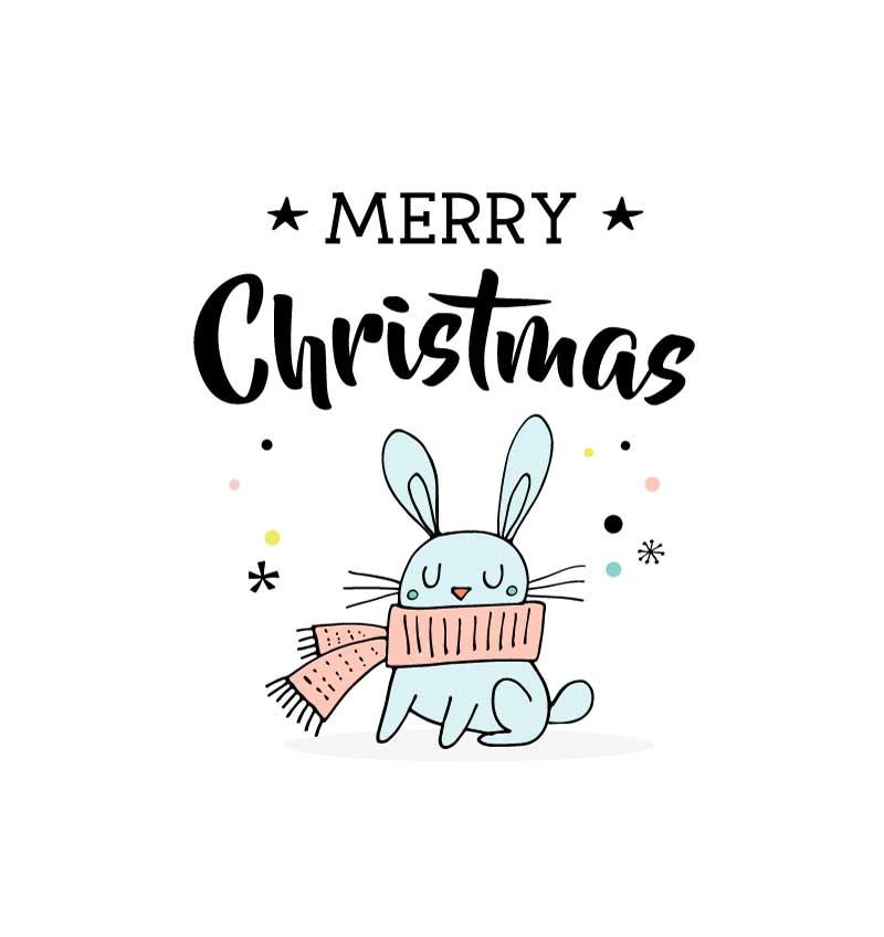 「ブルート」からクリスマスカード(フリー素材)プレゼント