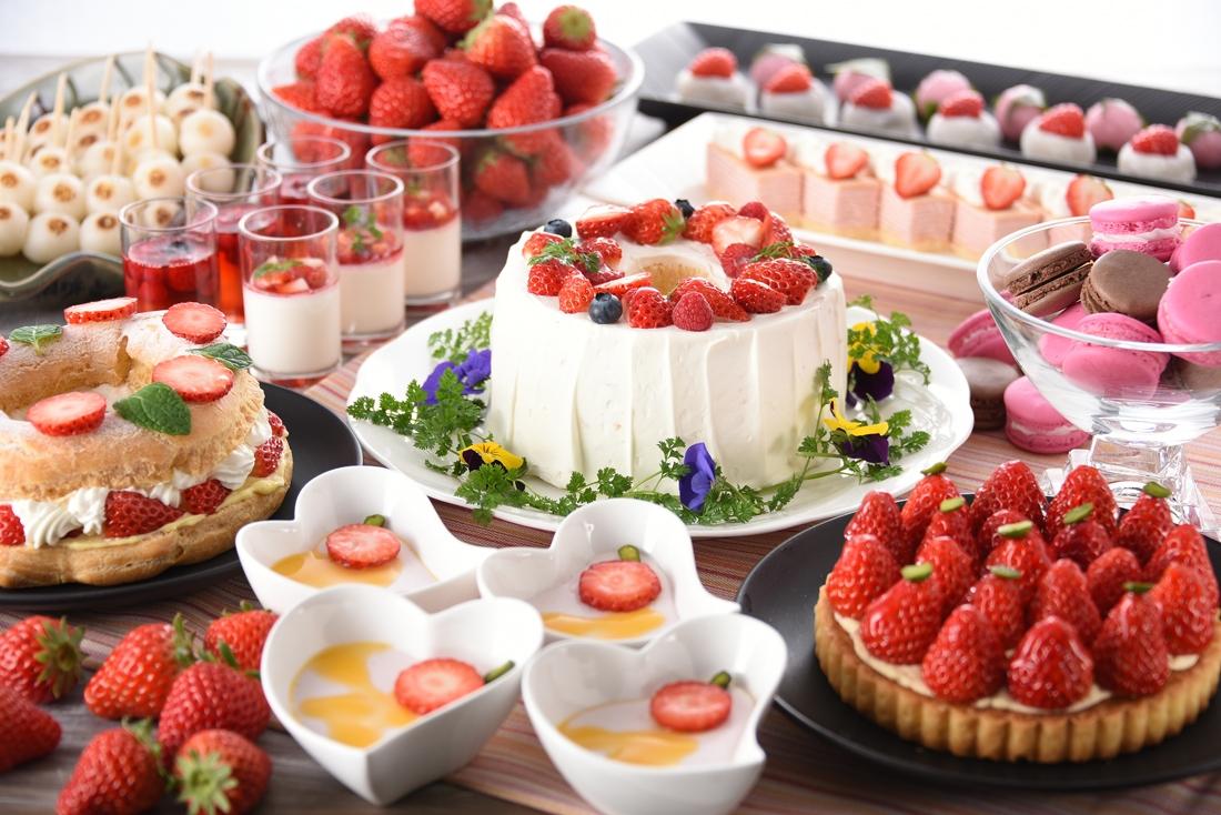 「福山ニューキャッスルホテル」クレールから【期間限定】春のスイーツバイキング~苺フェアと和スイーツ~のご案内