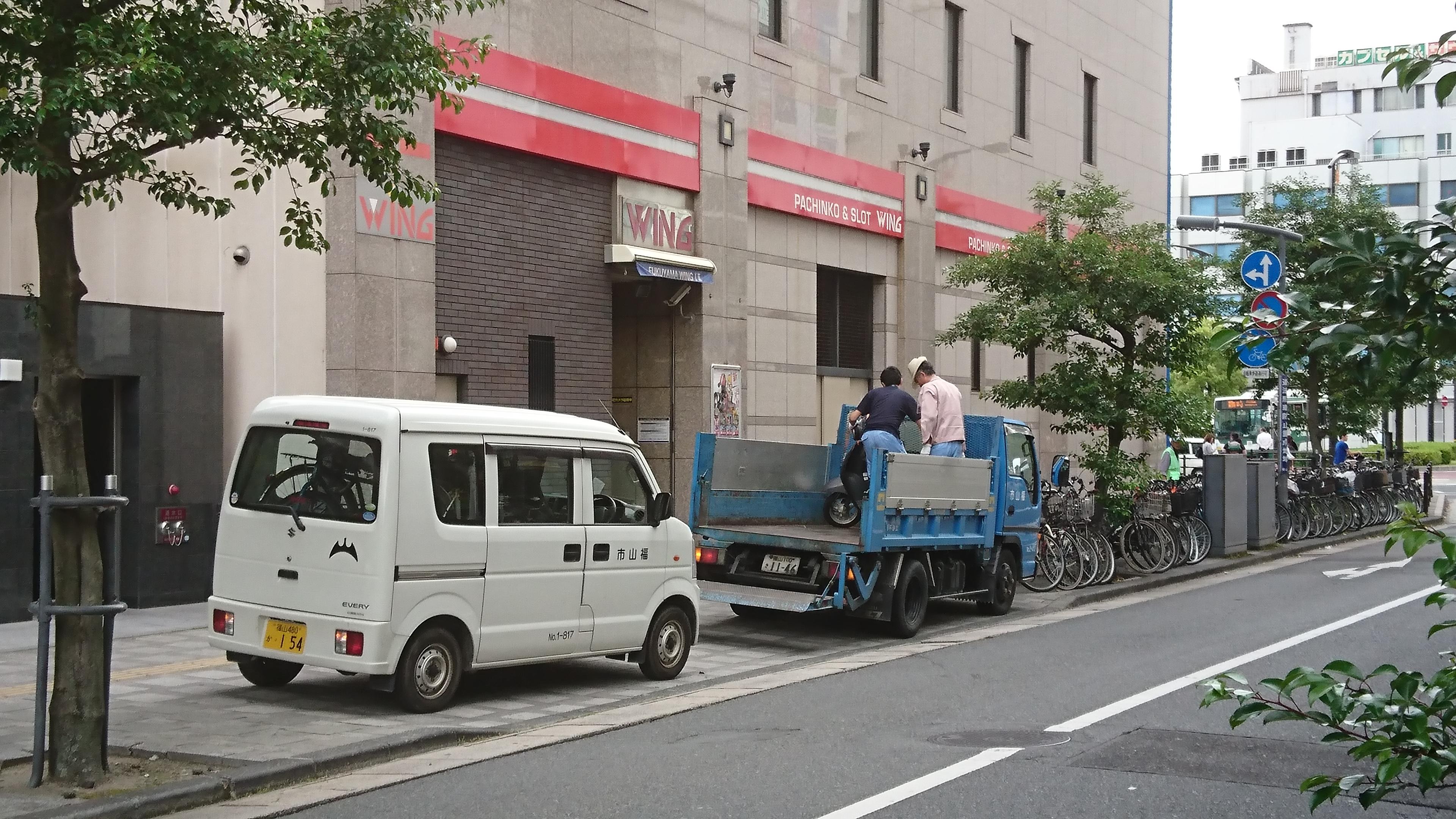 福山駅周辺の駐輪場